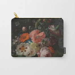 Rachel Ruysch - Still life with flowers on a marble tabletop (1716) Carry-All Pouch