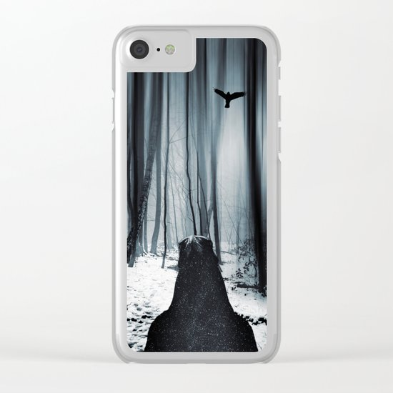 dark promise - raven Clear iPhone Case