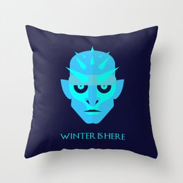 The Ice King - Winter is here Vector Poster Throw Pillow