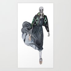 leather & ballet skeleton Art Print