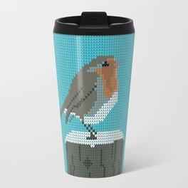 Christmas Robin Jumper  Travel Mug