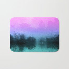 Rainy Day Birds - Multicolor Abstract Photo Montage Bath Mat