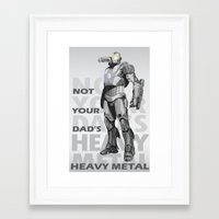 heavy metal Framed Art Prints featuring Heavy Metal by Laura Stephens