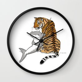 Tiger Shark Wall Clock