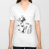 stevie nicks V-neck T-shirts featuring Trois Stevie by Lynette K.
