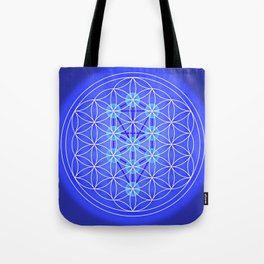 Flower Of Life - Blue Tote Bag