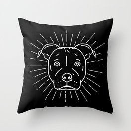 Radiant Dog Print – black and white Throw Pillow