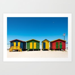 Hightech beach huts Art Print