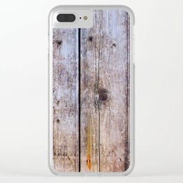 Old Fence Planks With Rust, Wood Decor Clear iPhone Case