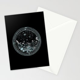 Miniature Circle Landscape 2: Astronausea.. Stationery Cards