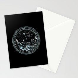 Miniature Circle Landscape 2: Astronausea.. Stationery Cards
