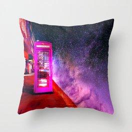SPACE PHONE ON JUPITER Throw Pillow