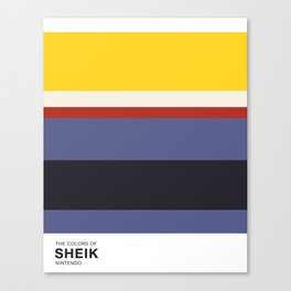 The Colors of Sheik Canvas Print