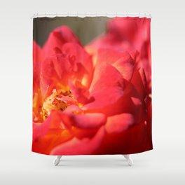 Bright Red Flower Shower Curtain