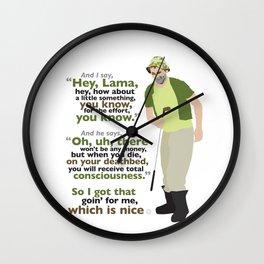Carl Spackler and the Lama Wall Clock