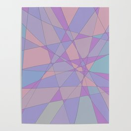 Shattered Purple & Pink Poster