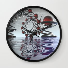 Surreal Christmas in the sky  Wall Clock
