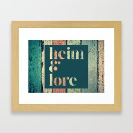 heim&lore headboard Framed Art Print