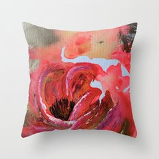 Golden Gloomy Garden Flower Throw Pillow