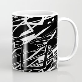 music note sign abstract background in black and white Coffee Mug