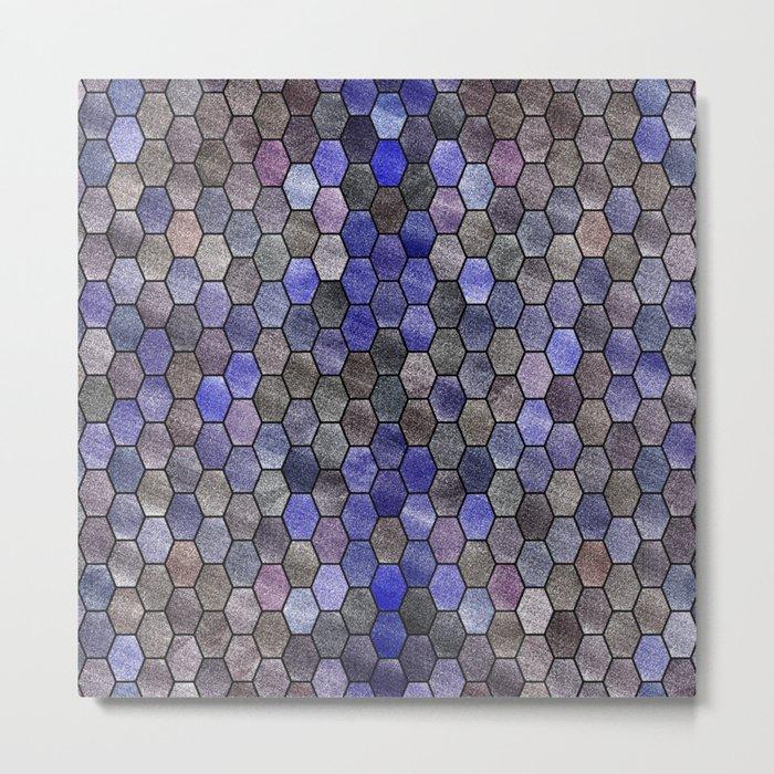 Glitter Tiles VII Metal Print