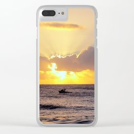 Golden Lining Clear iPhone Case