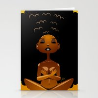 spiritual Stationery Cards featuring Spiritual AfroGirl by Pweety Sexxay