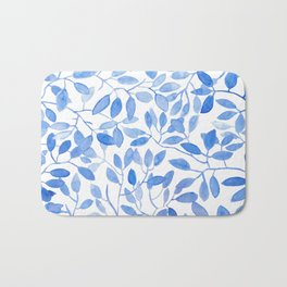 Watercolor Leafs Bath Mat