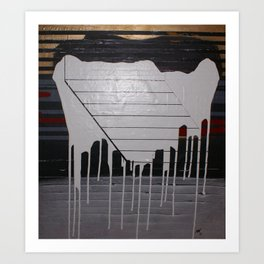 THE SOFT DOWNSLIDE Art Print