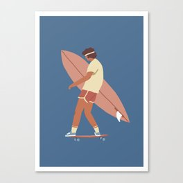 Surf poster Canvas Print