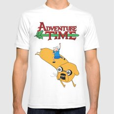 Adventure Time Mens Fitted Tee MEDIUM White