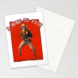 Vintage Skeleton Cowboy Artwork Stationery Cards