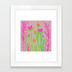 NEON BLOOM  Framed Art Print