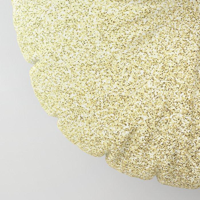 gold glitter Floor Pillow