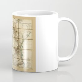 Map of East Africa (1890) Coffee Mug