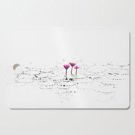 Lotus illustration Cutting Board