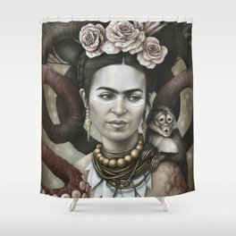 Hommage à Frida Kahlo 3 Shower Curtain