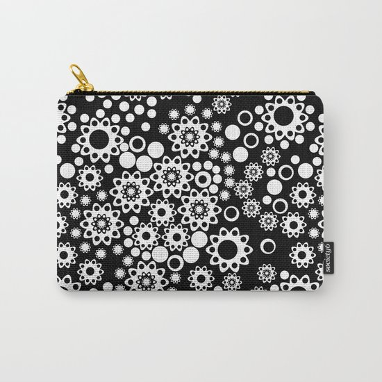 Black / white fishnet Lace pattern Carry-All Pouch