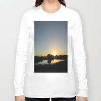farm Long Sleeve T-shirts featuring Farm Sunset by I AmErika