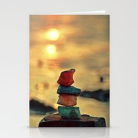 zen Stationery Cards featuring Zen by teddynash