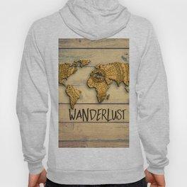 Wanderlust Vintage Map Hoody