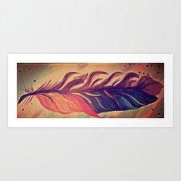Metallic feather Art Print