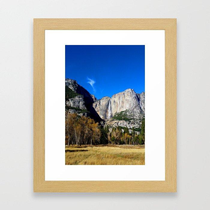 Yosemite Falls from Yosemite Valley Framed Art Print