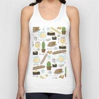 bread Tank Tops featuring Bread by Ceren Aksu Dikenci