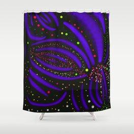 Purple Firework Explosion Shower Curtain