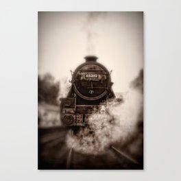 45212 Locomotive Head On Canvas Print