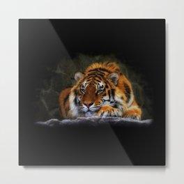 Cool Tiger Metal Print
