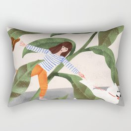 Going On A Walk Rectangular Pillow