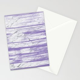 Modern abstract violet watercolor brushstrokes marble pattern Stationery Cards