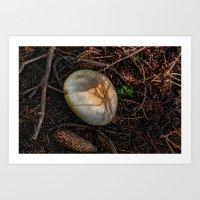mushroom Art Prints featuring Mushroom by Christia Caldwell Moody